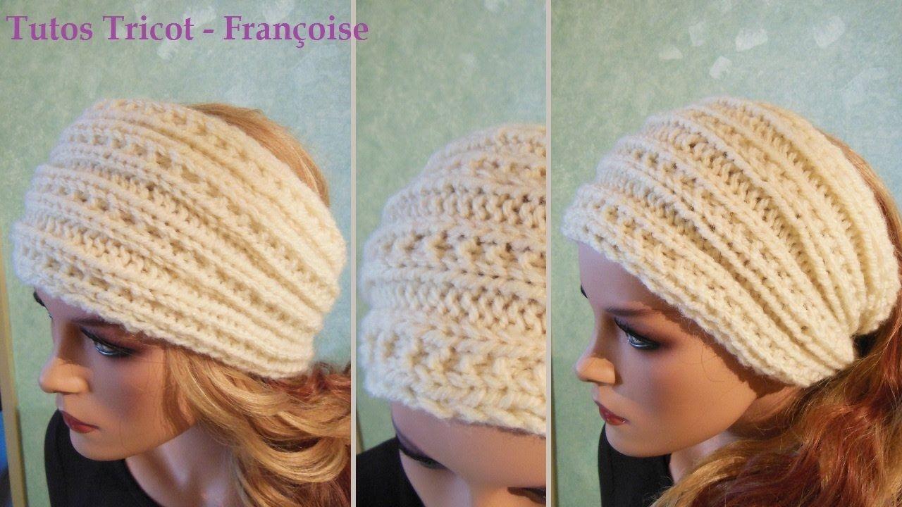tuto tricot headband bandeau femme c tes 3 2 point fantaisie headband tricot tuto. Black Bedroom Furniture Sets. Home Design Ideas