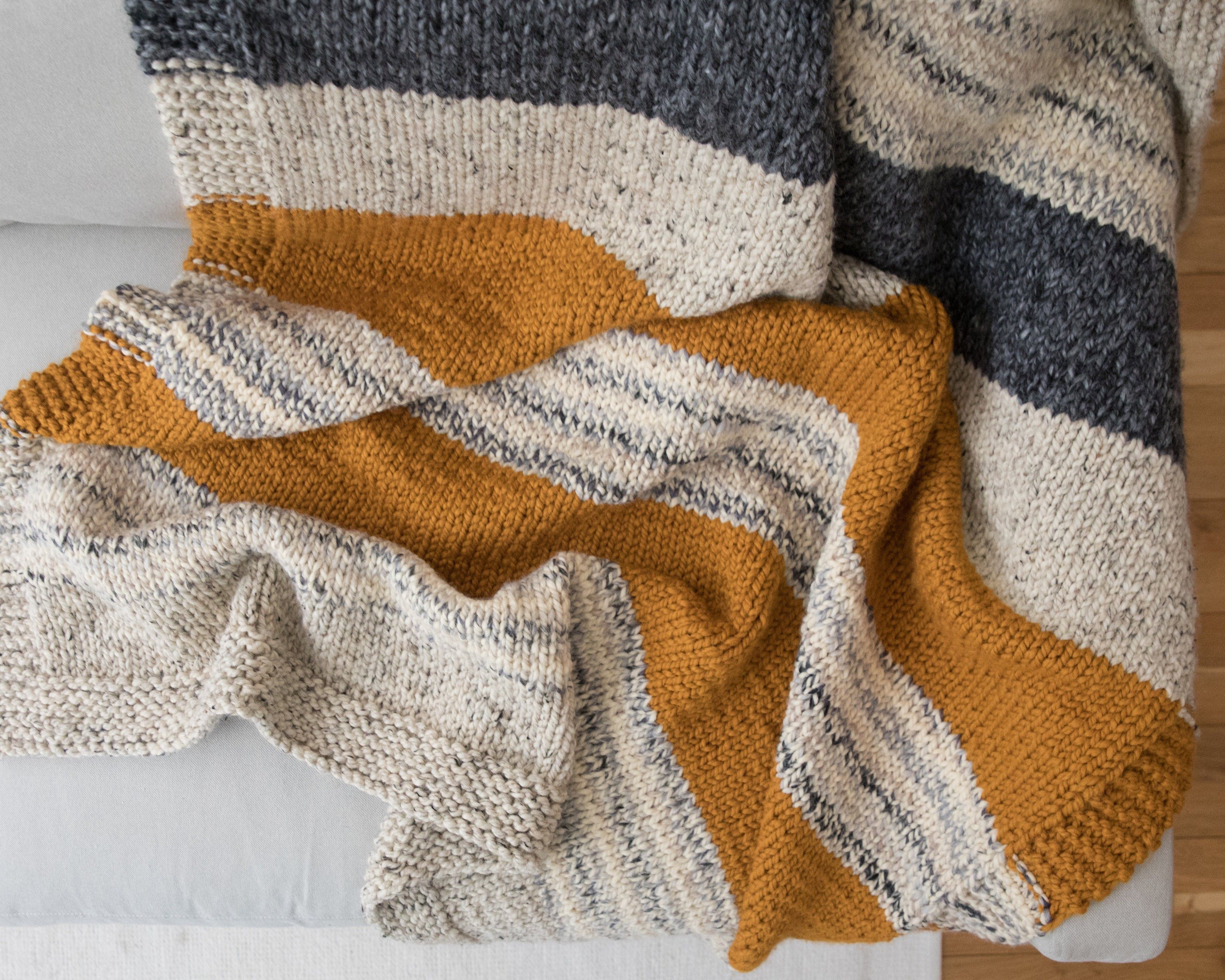 975c28f3d Knit Kit - Simple Striped Afghan  Out of Stock - ETA May 17th