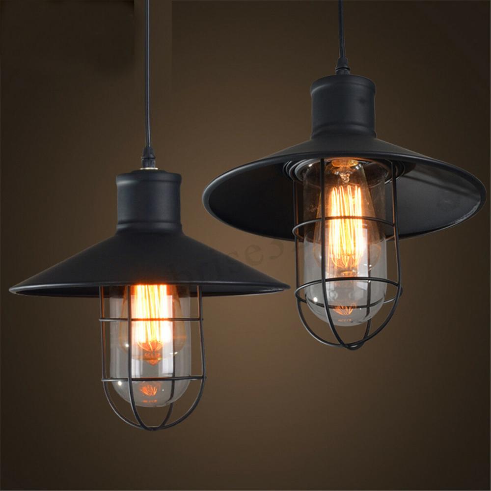 Vintage Industrial Style Metal Fishermans Cage Ceiling Pendant Light Lamp Us In 2020 Modern Hanging Lamp Rustic Industrial Pendant Lighting Industrial Pendant Lights