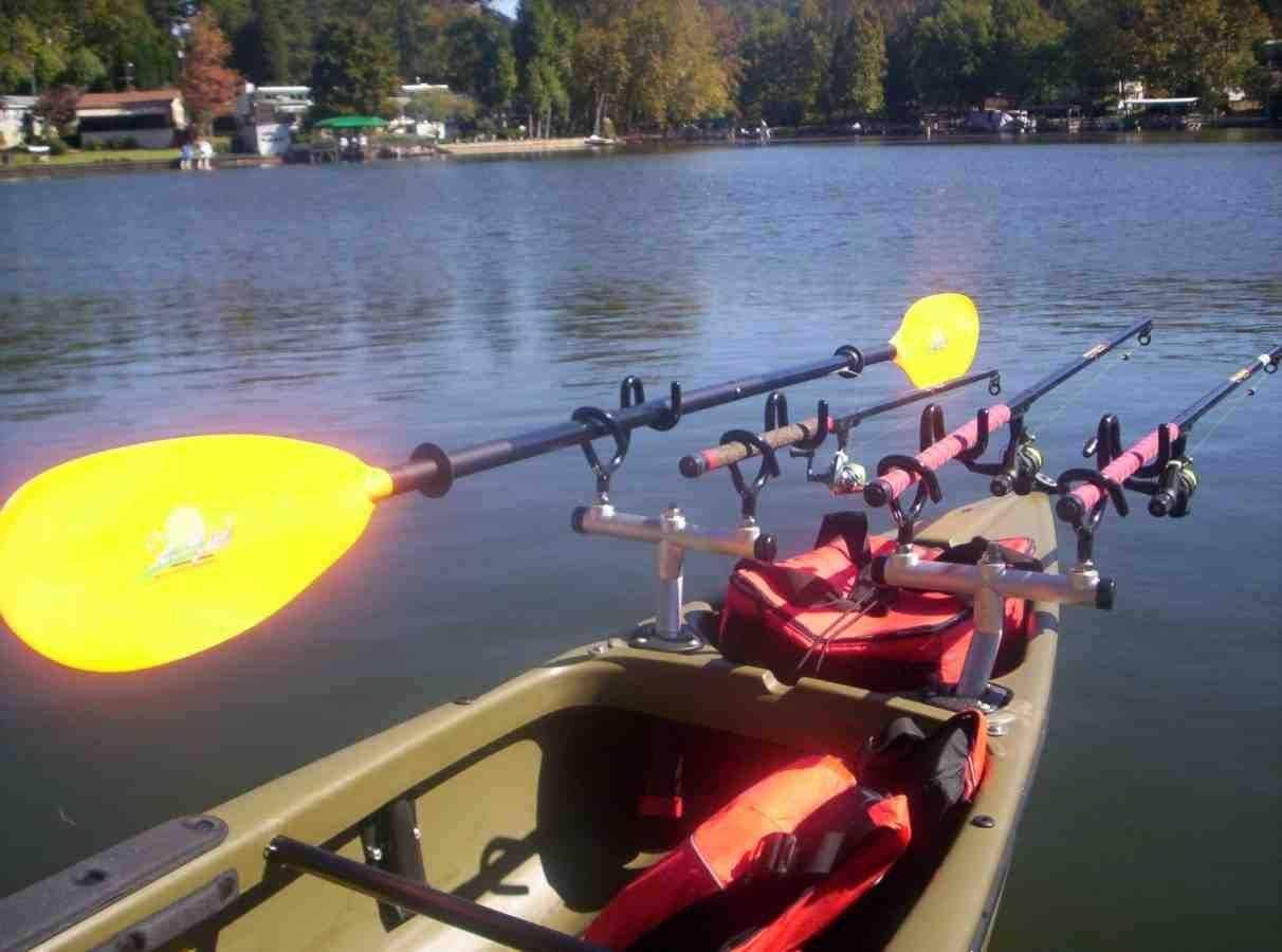 Canoe fishing rod holder tv fishing rod holders for Kayak fishing pole holder