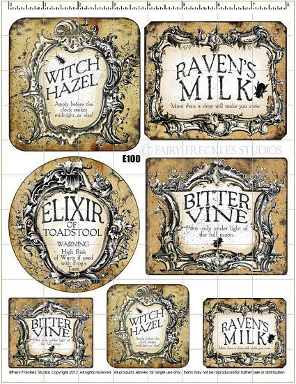 Item E100 Halloween Label Decals