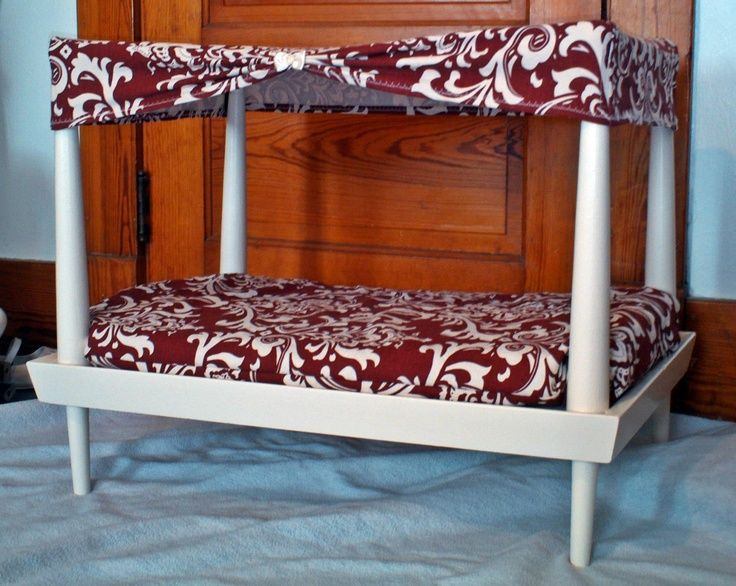 Dog bed I made out of an old end table Via Angie Maroney DIY