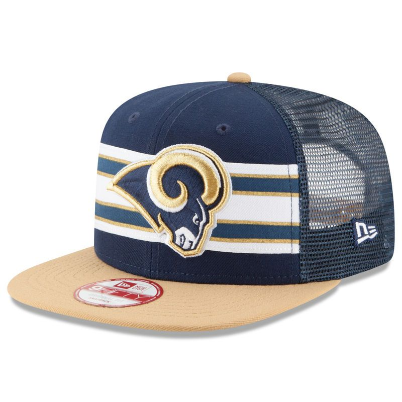 9b83bfbe2 Los Angeles Rams New Era Throwback Stripe Original Fit 9FIFTY Adjustable  Snapback Hat - Navy