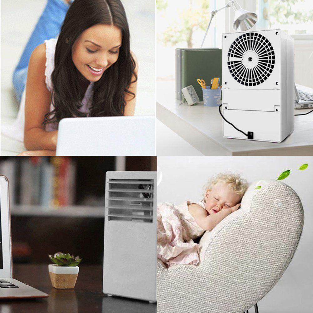 LUCKSTAR Desktop Air Conditioning Fan Quiet Personal Mini