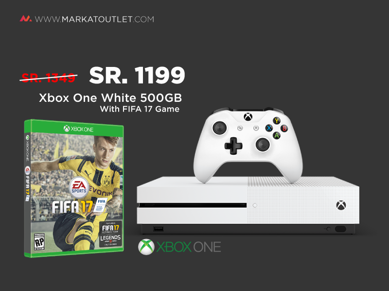 Buy Xbox One S In Saudi Arabia At Great Prices Shop Now Xbox One S Just 1199 Sr With Fifa 17 Shop From Markatoutlet Com Xbox One S Xbox One