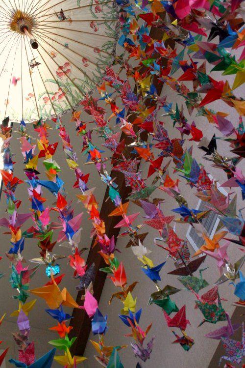 1000 Origami Kraanvogels Arte En Papel Grullas Origami