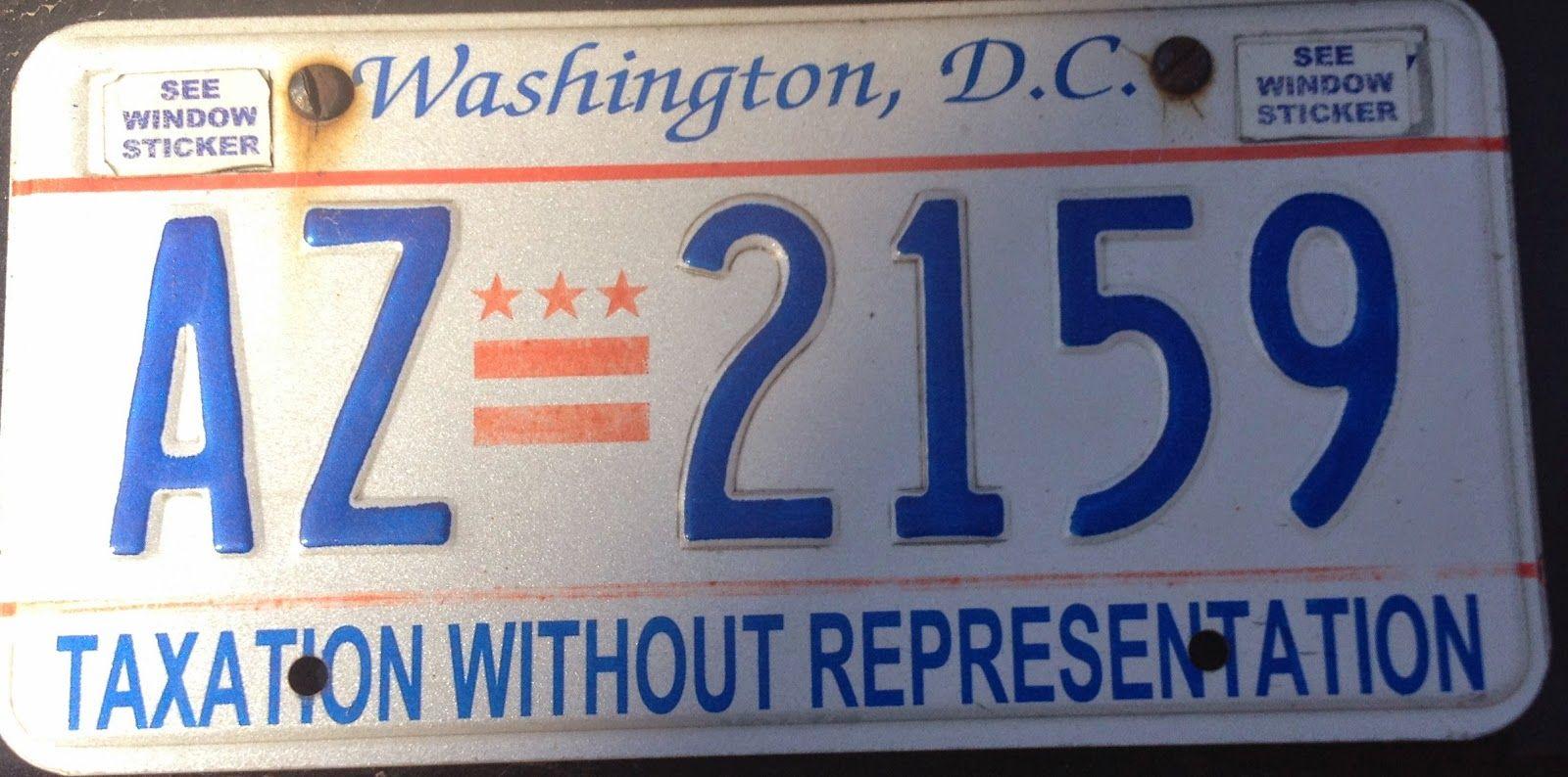 Washington DC License Plates