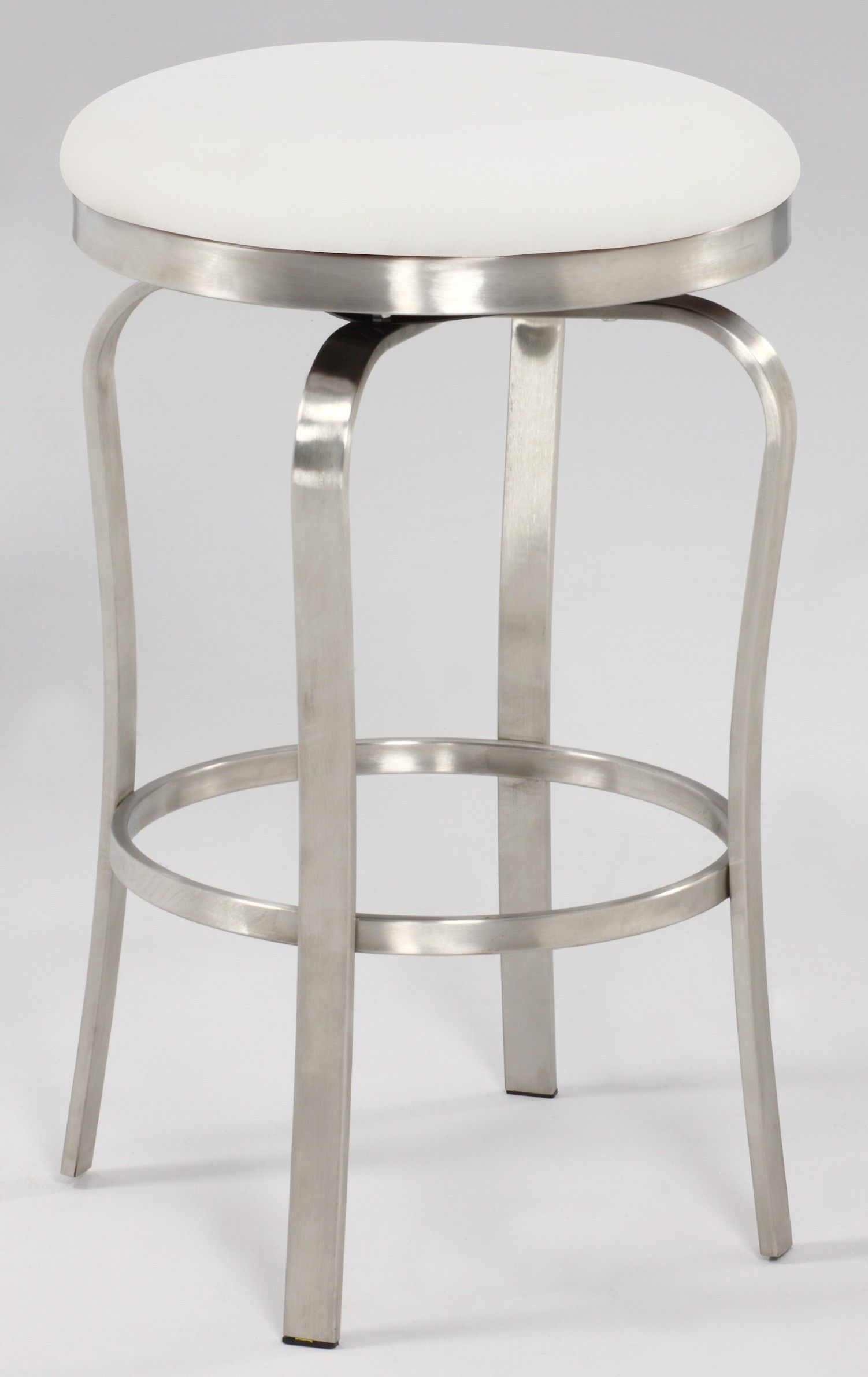 Chintaly Imports Modern Backless Counter Stool In White 1193 Cs Wht Goedekers Com Counter Stools Backless Bar Stools Backless Bar Stools