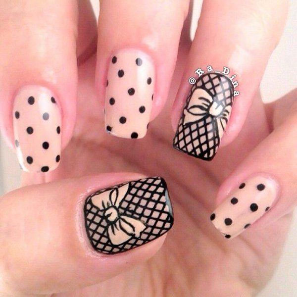 50 Cute Bow Nail Designs