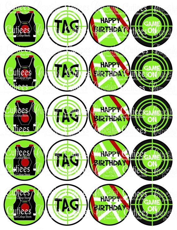 laser tag digital collage cupcake toppers 2 inch circle tags no rh pinterest com Laser Tag Uniforms Fire Clip Art