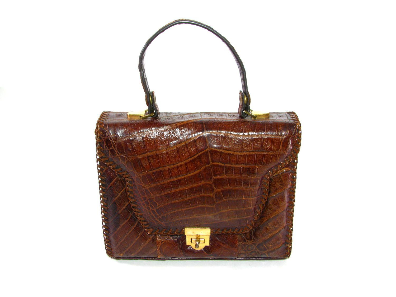 Vintage Alligator Bag 1930s Purse 1940s Handbag Made In Florida By Etco 125 00 Via Etsy