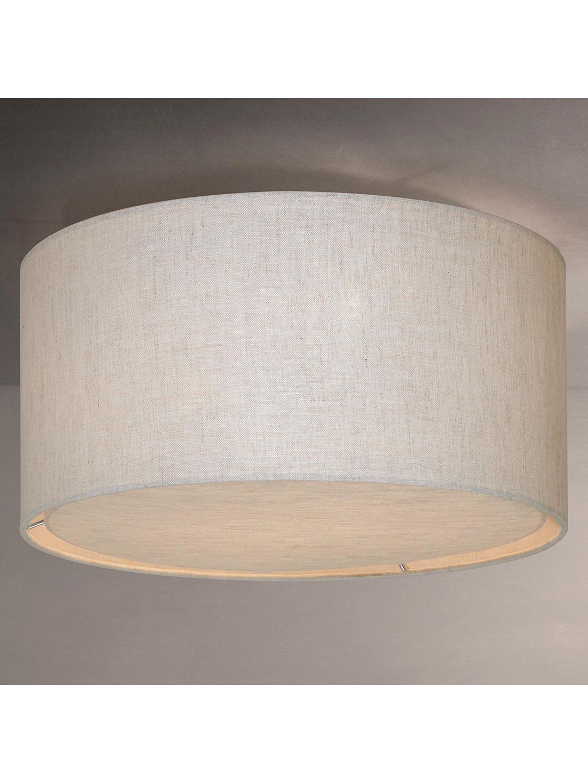 John Lewis Partners Samantha Linen Flush Ceiling Light Natural