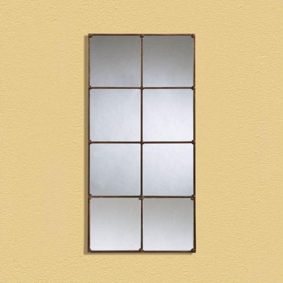 Bassett Mirror Bronze Rectangular Window Wall Mirror - m2537 | home ...