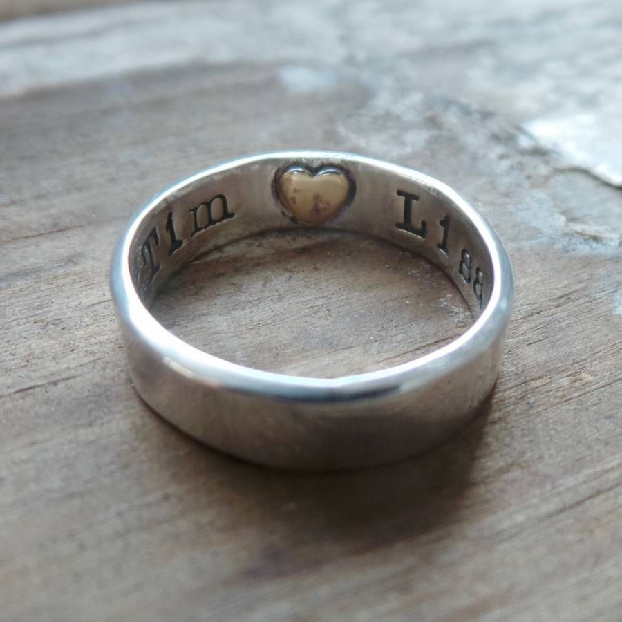 Wedding Band With Heart Imprint Unique Wedding Ideas