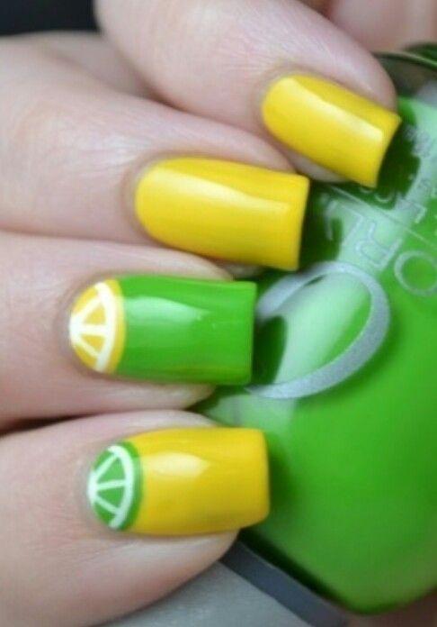 Citricos   Uñas y Cabello!   Pinterest   Esmalte para uñas, Diseños ...
