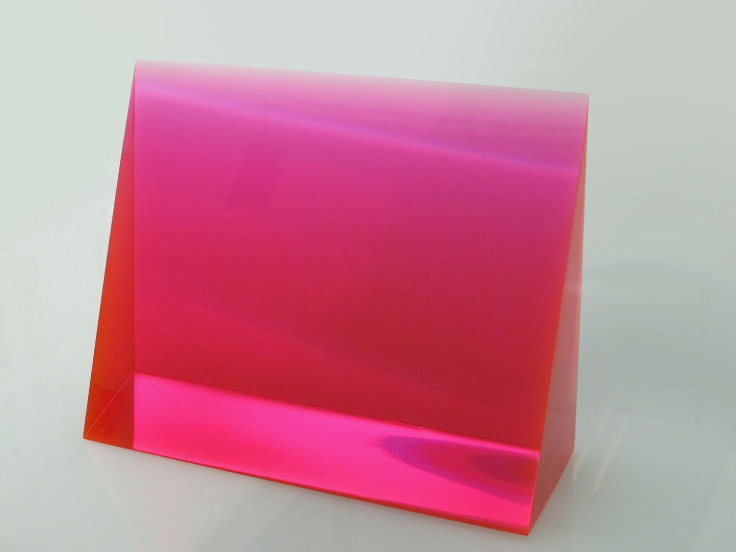 pink gradient wedge cast polyester resin - eric cahan | // art ... for Polyester Resin Sculpture  70ref