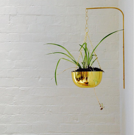 brass planter bracket modern plant hanger decorative on wall brackets id=26052