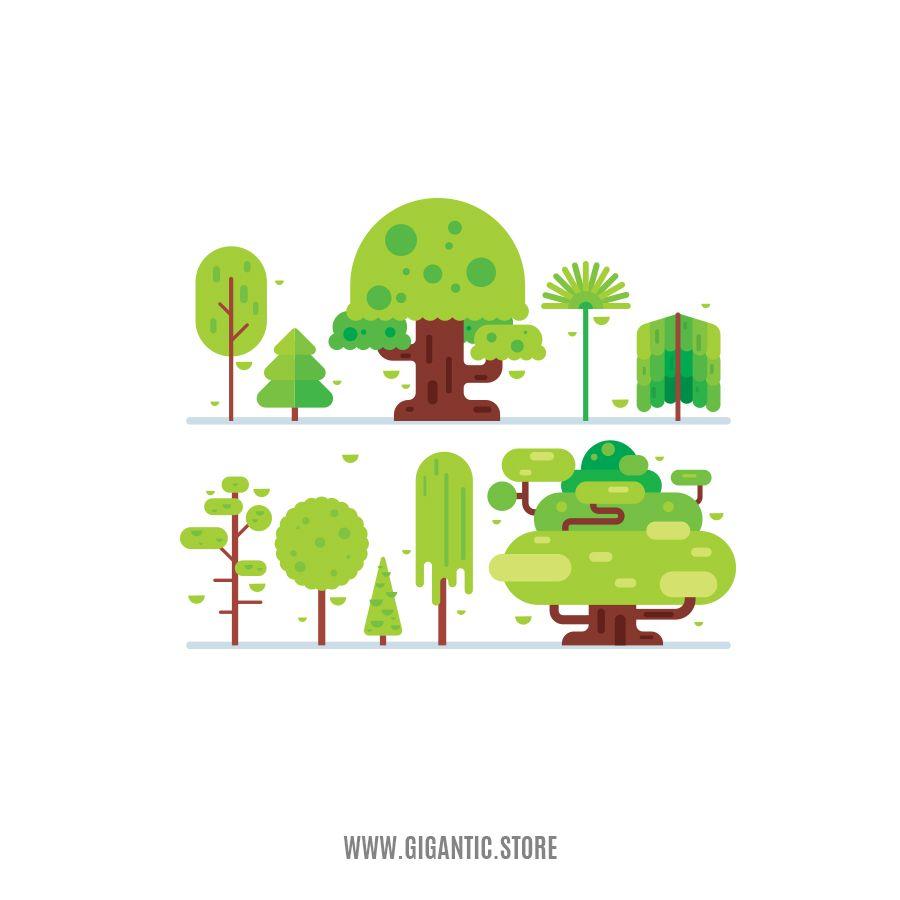 Gigantic Store Nature Illustration Illustration Design Flat Design Illustration