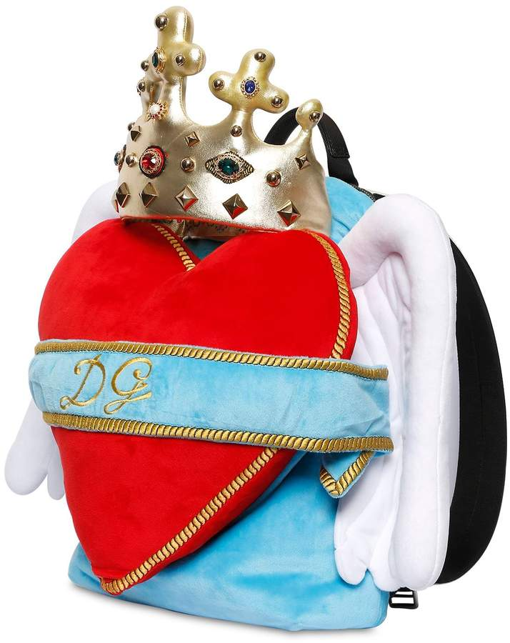 5468379f743 Dolce & Gabbana Heart Wings Velvet Backpack   Products   Cool ...