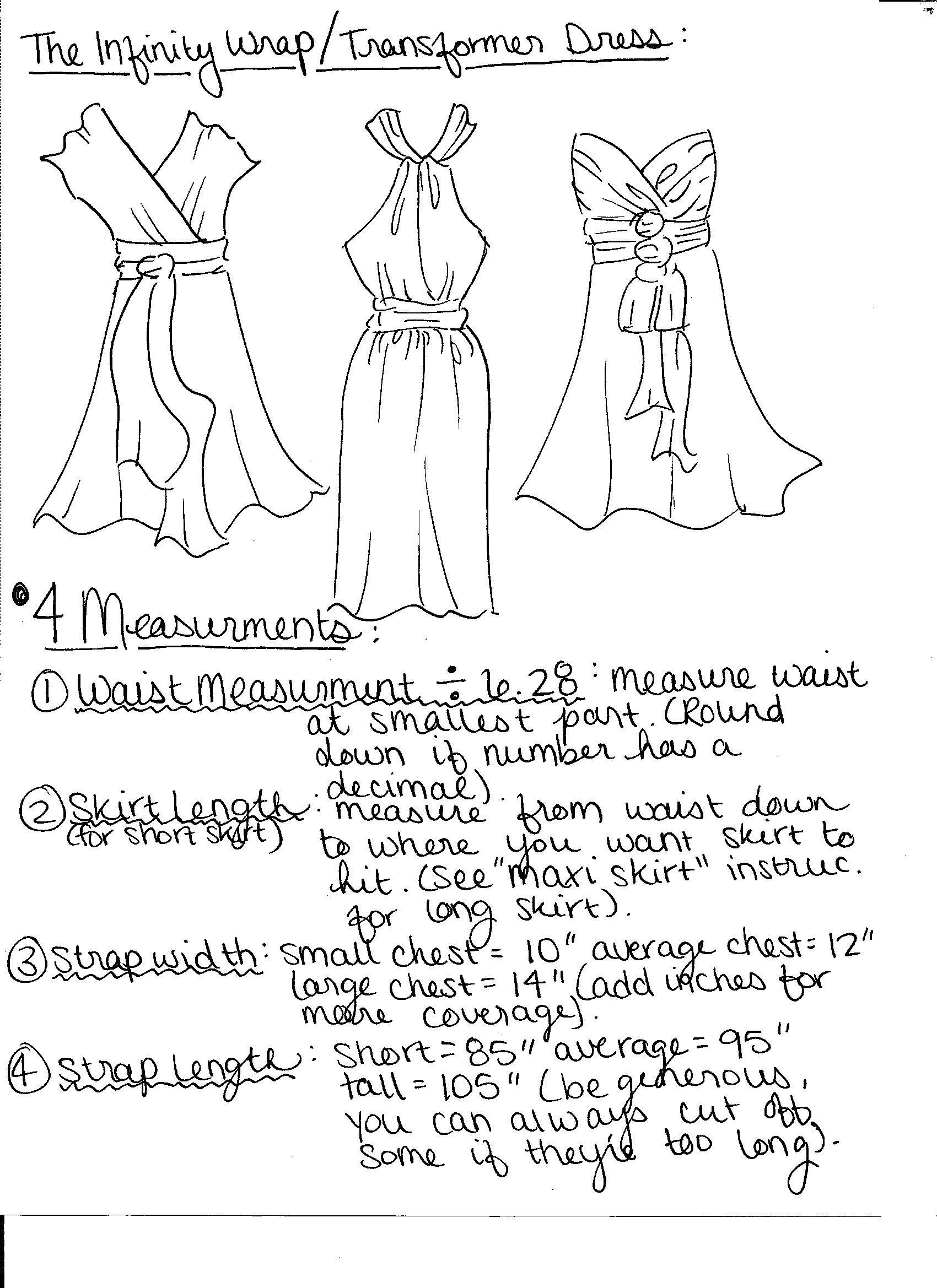 convertible dress tutorial/pattern | Sewing DIY | Pinterest ...