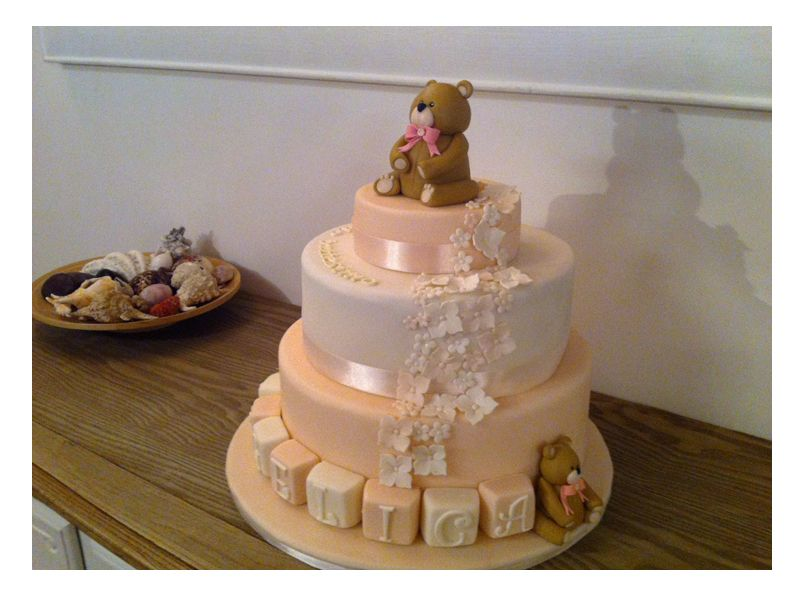 baptism baby girl cake