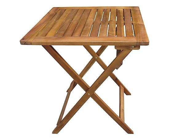Tavolo pieghevole in legno di acacia Augusta naturale