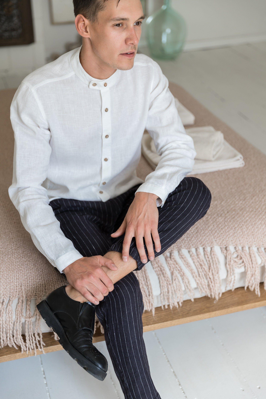 Mens Linen Shirt Band Collar Shirt White Linen Dress Shirt Etsy In 2021 Linen Shirt Men White Linen Shirt Men Banded Collar Shirts [ 3000 x 2000 Pixel ]