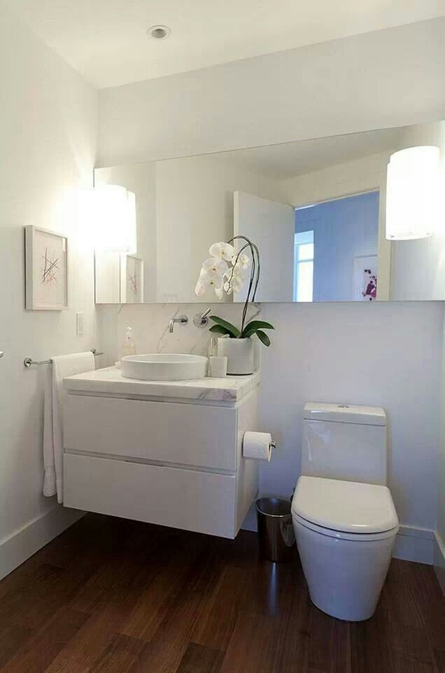 All White Comfort Room Small Bathroom Bathroom Design Mirror Interior Design