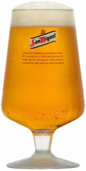 San Miguel Chalice Box Of 24 Beer Bar San Miguel Beer Glass