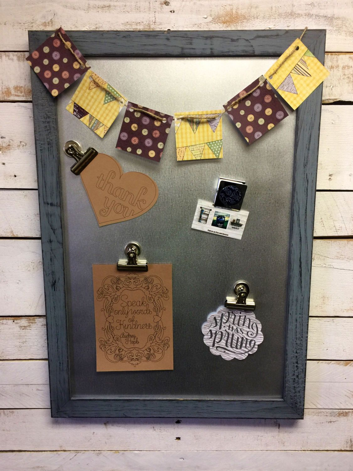 Framed Magnetic Board-Family Message Board-Family Message ...