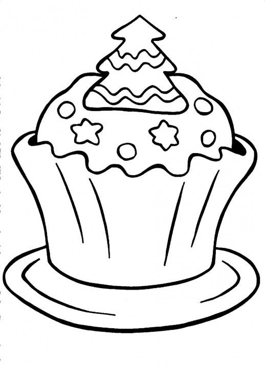 A Christmas Cupcake Coloring Pages Cupcake Coloring Pages Leaf Coloring Page Cool Coloring Pages