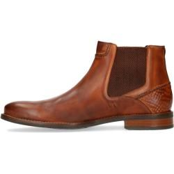 Photo of Chelsea-Stiefel in Cognac-Farbe aus Leder (40,41,42,43,44,45,46) Manfield