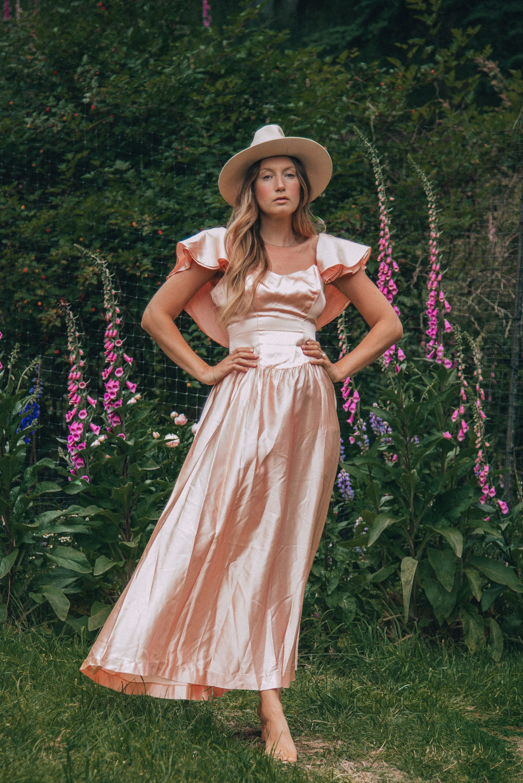 blush maxi dress for wedding