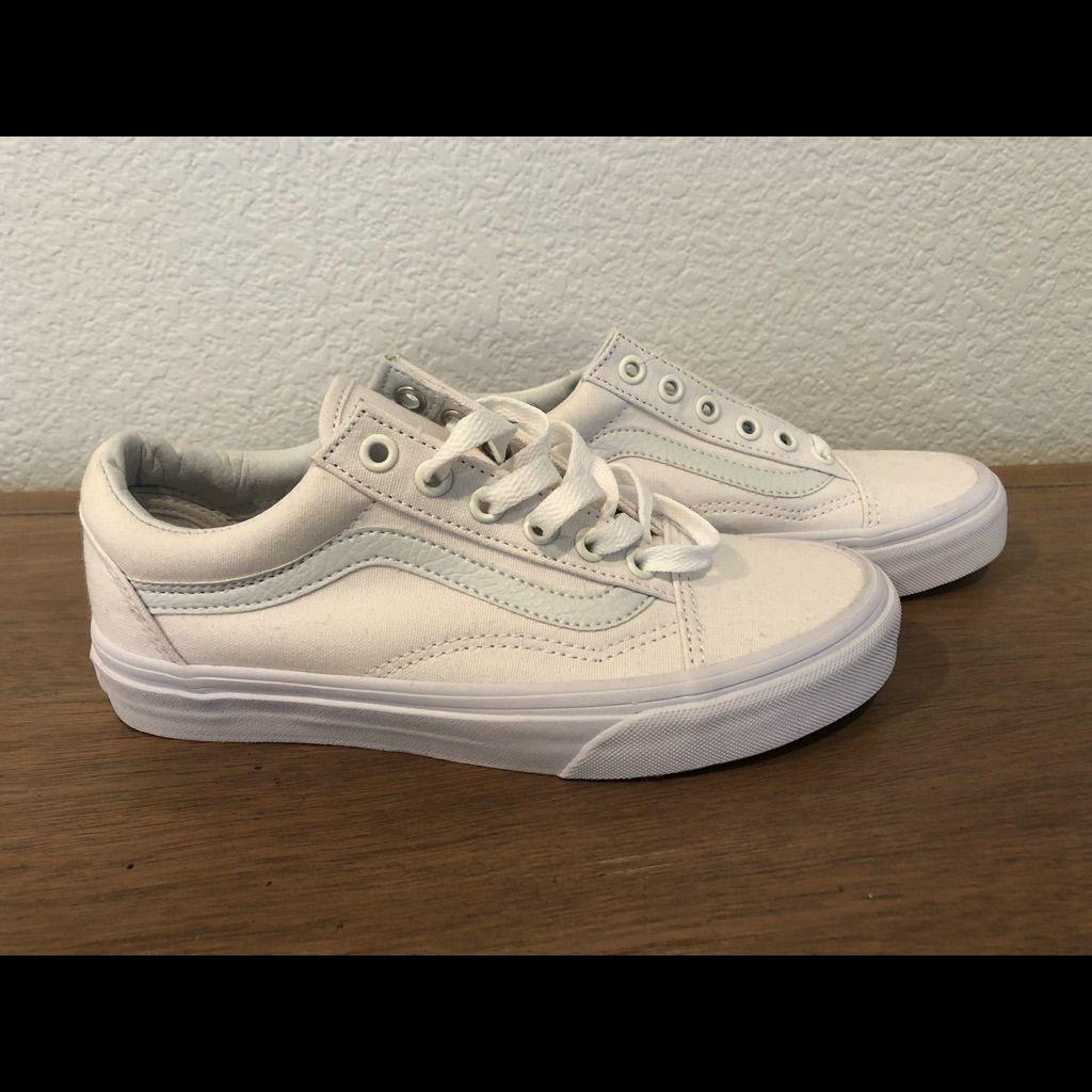 white vans size 4.5