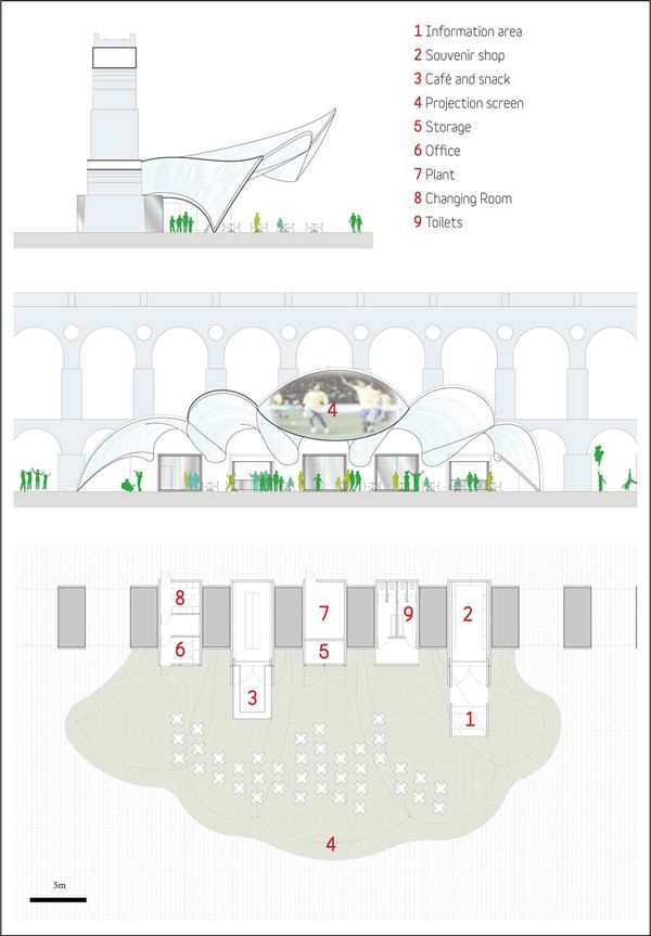 Rio de Janeiro, Wings of Glory, Mekene Architecture, [RIO DE JANEIRO] Symbolic World Cup Structure, first prize, winning entry, arcades, Arcos de Lapa, membrane, World Cup