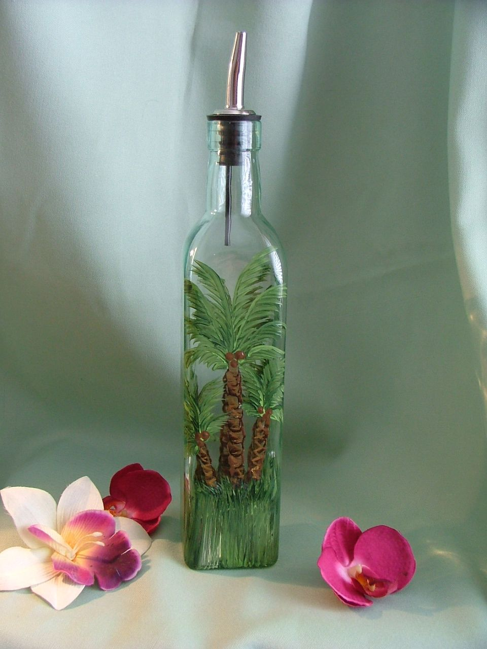 Olive Oil Decorative Bottles This Handpainted Bottle Is Good For Olive Oil Dishwashing Liquid