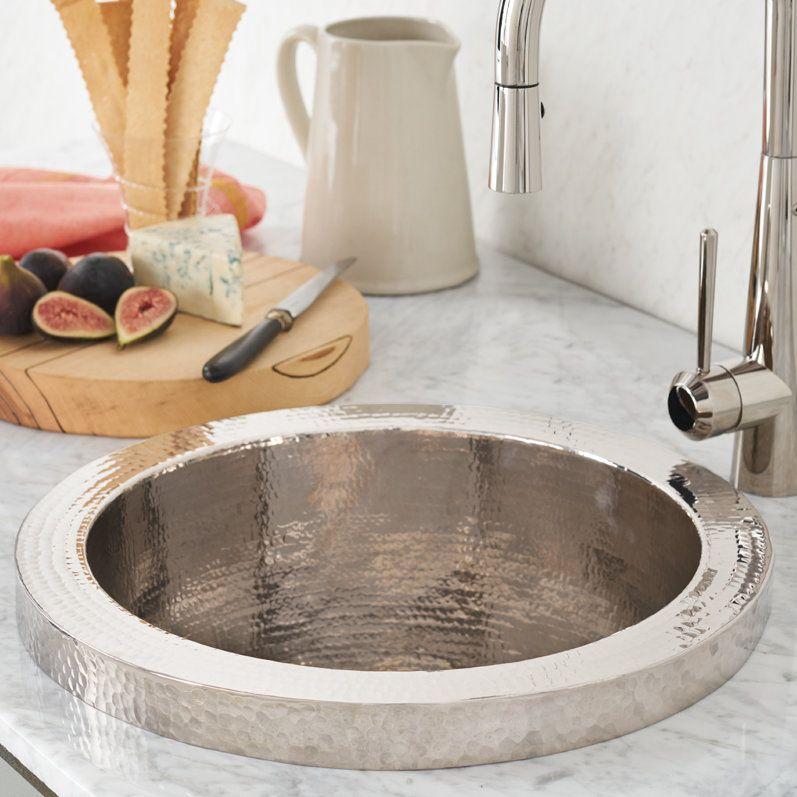Mojito 16 X 16 Drop In Bar Sink Copper Bar Sink Bar Sink Copper Bar