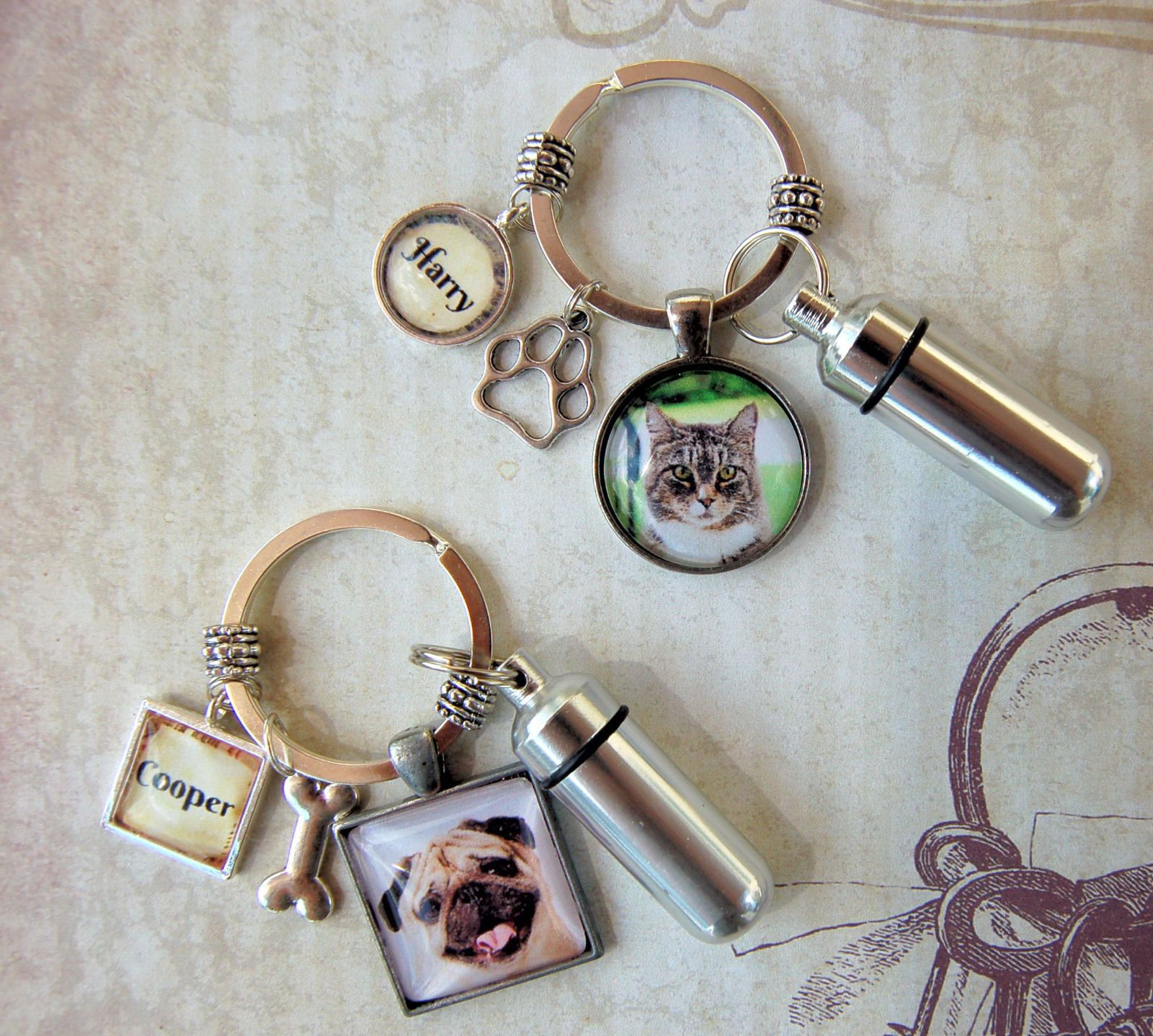 cool Pet Memorial Key Ring with Custom Photo and Cremation Urn Loss of Cat or Dog   Check more at http://harmonisproduction.com/pet-memorial-key-ring-with-custom-photo-and-cremation-urn-loss-of-cat-or-dog/