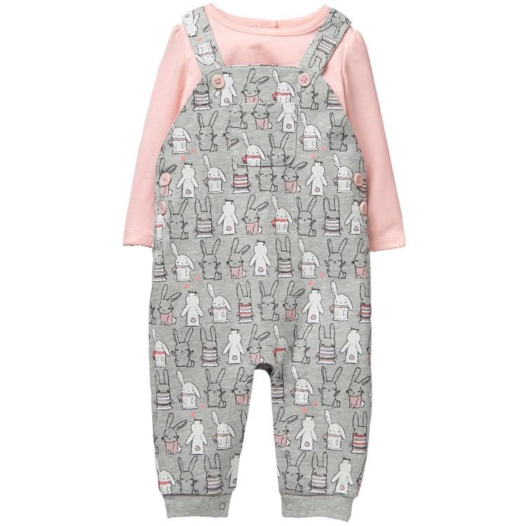 a7ed3893e8b7 Baby Heather Grey Bunny Overalls Set by Gymboree | Ivy Clothes ...