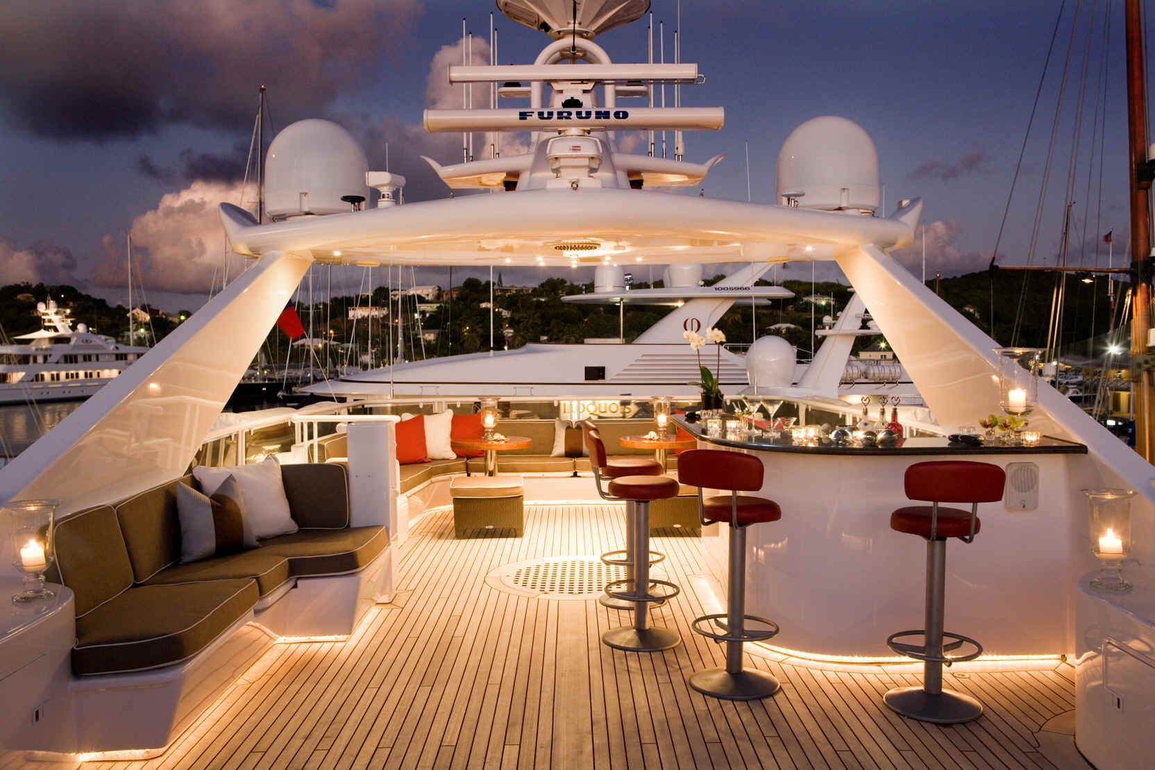 Luxury yacht interior women and another lurssen motor yacht blind date is a charter yacht