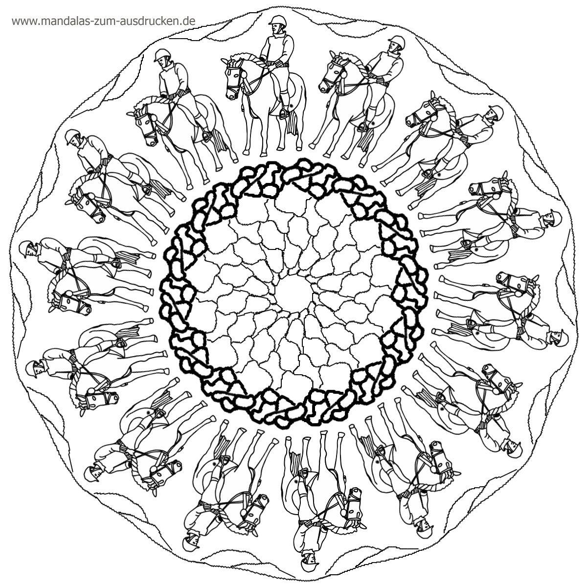 Ausmalbilder Mandala Pferd : Pferde Mandala Zum Ausdrucken Ausmalbildkostenlos Com Pinterest