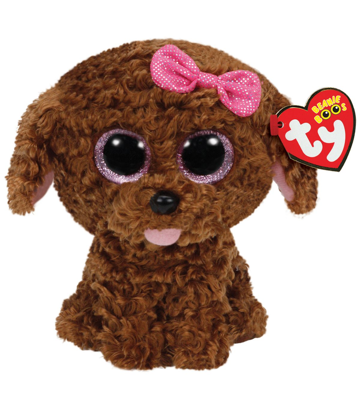 8ba792b0874 TY Beanie Boo Maddie Brown Dog with Bow