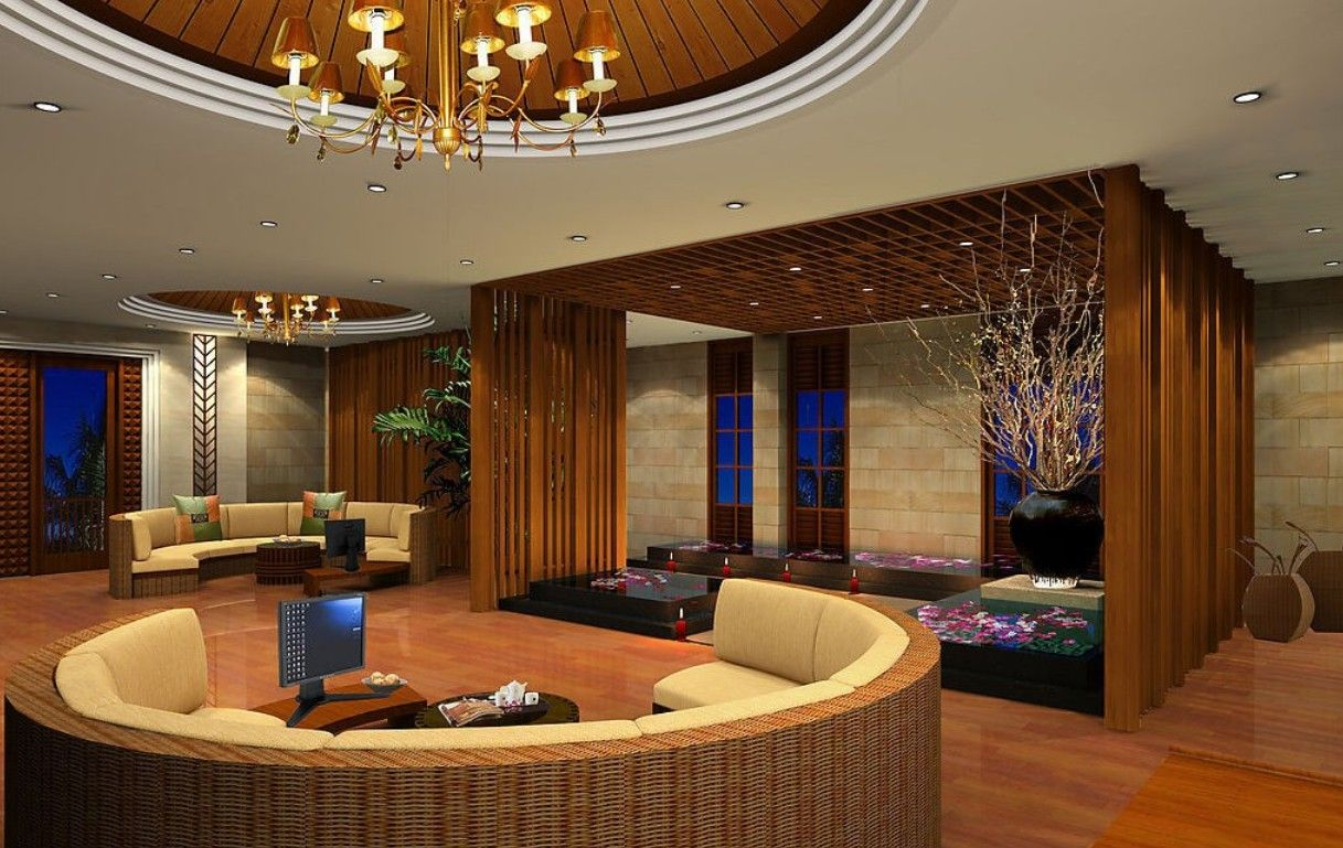 Spa Vip Area 3d Design Rendering