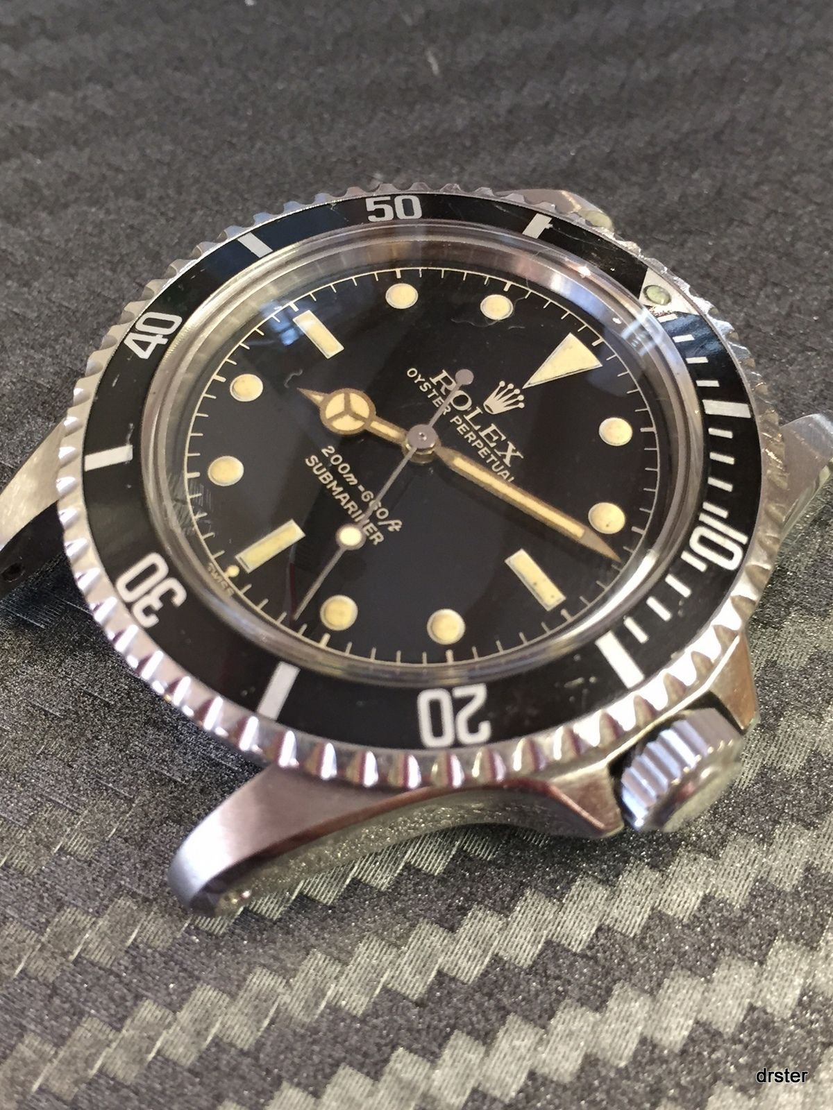 Rolex Vintage Submariner 5512 Gilt Dial Pointed Crown Guards 1961