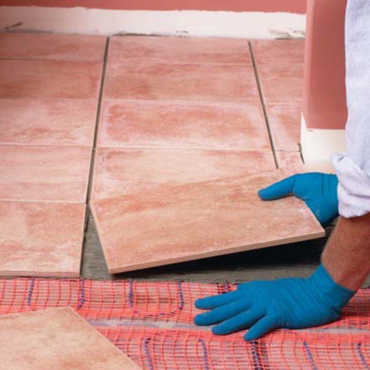 How to Install In-Floor Heat | Heated bathroom floor ...