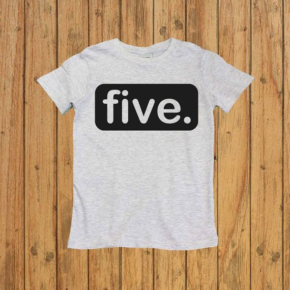 Boys Fifth Birthday Shirt Five Year Old By UnordinaryToddler