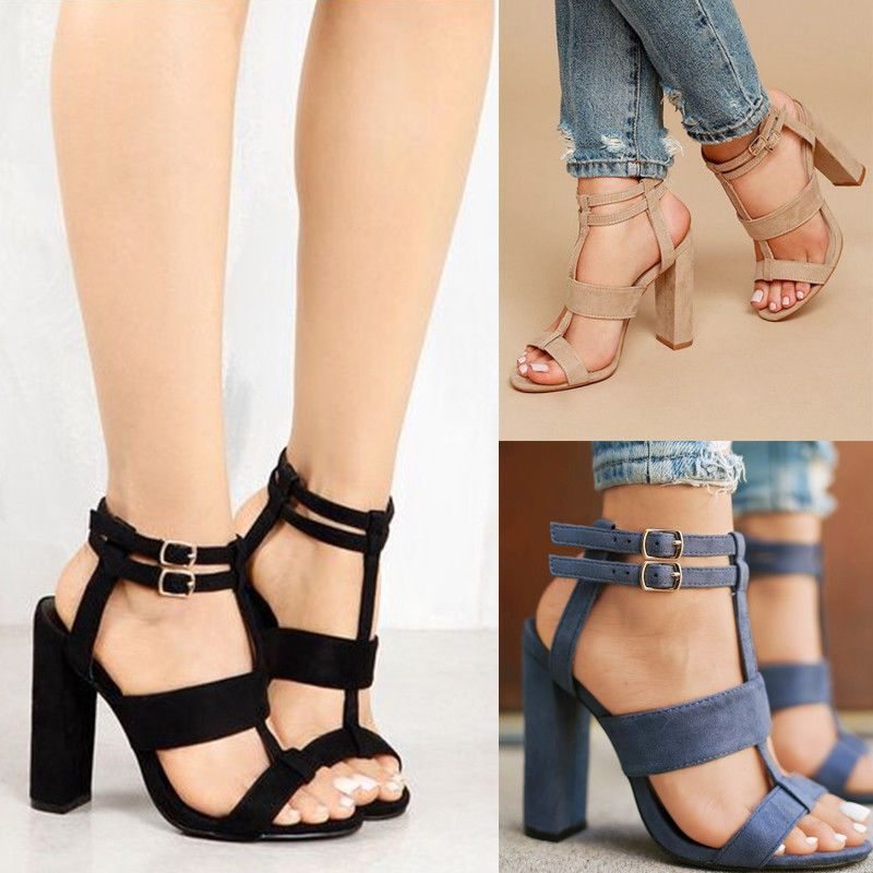 Womens Stilettos Summer Hollow High Heel Ankle Booties Sandals Shoes Plus Size