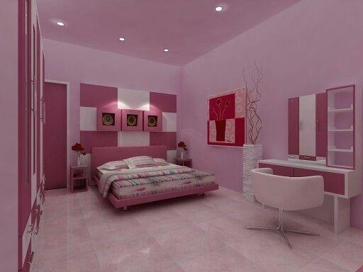Serba Pink Cocok Untuk Kamar Tidur Wanita Desain Interior Kamar Wanita Interior Pink luxury unicorn room kamar