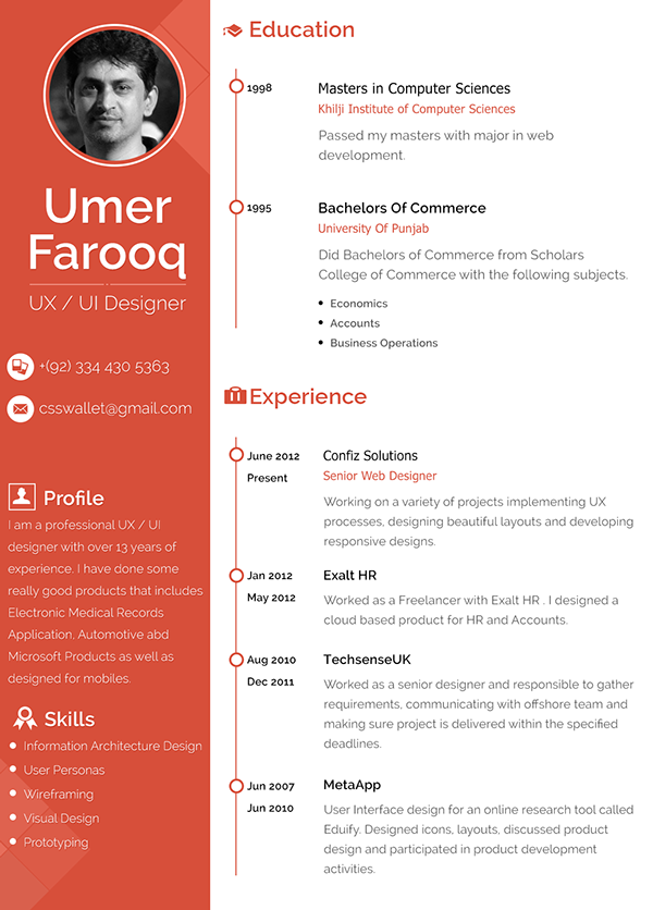 Graphic Design Resume Exle Google Search Designspiration