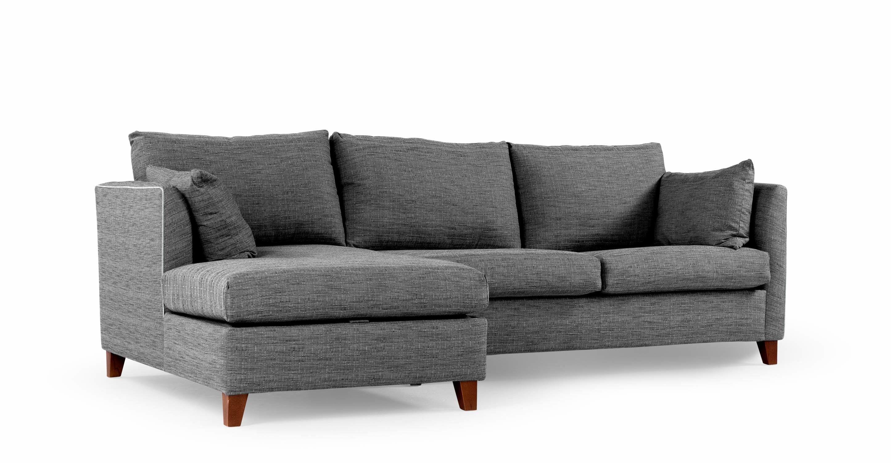 Bari Ausziehbares Eckschlafsofa Recamiere Links Mit Stauraum Und Memory Foam Matratze Malva Graphit Sofa Bed Corner Sofa Bed